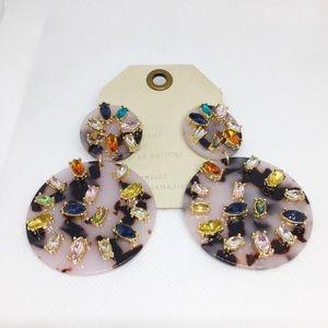NWT Anthropologie baublebar resin crystal earrings